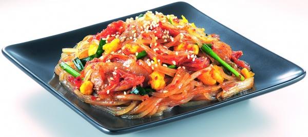焼き冷麺調理例